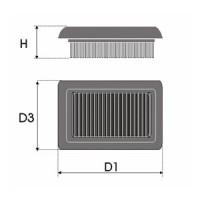 Sportovní filtr Green HONDA CIVIC 3 dv. 1,4L i S 16V výkon 55kW (75hp) typ motoru D14A3 rok výroby 96-00