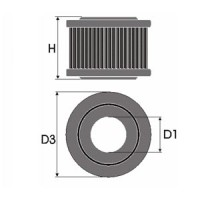 Sportovní filtr Green HONDA INTEGRA 1.5L 16V výkon 63kW (85 hp) rok výroby 86-