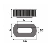 Sportovní filtr Green HONDA CIVIC 3 dv. 1.3L 16V (EC8) výkon 55kW (75hp) typ motoru D13B2 rok výroby 88-91